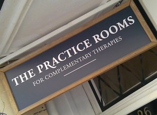 The Practice Rooms sign